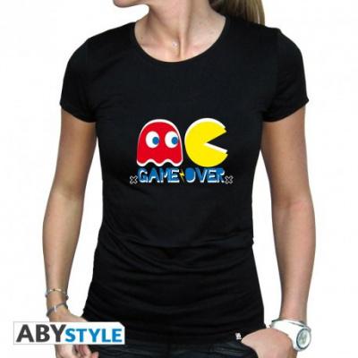 PAC-MAN - Tshirt Game Over woman black