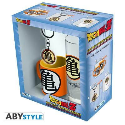 DRAGON BALL - GIFT BOX (GLASS - KEYCHAIN - MINI MUG) - KAME SYMBOL