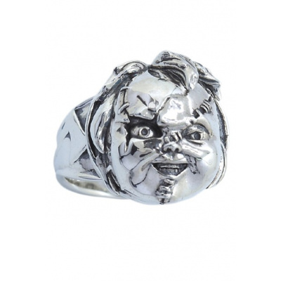 Bride of Chucky: Scarred Chucky - Silver Plated Ring Size 11