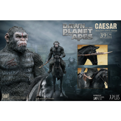 Dawn of the Planet of the Apes: Caesar with Spear on Horse Statue