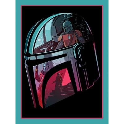 Star Wars: The Mandalorian - Helmet Section 30 x 40 cm Canvas Print
