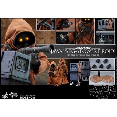 Star Wars Episode IV pack 2 figurines Movie Masterpiece 1/6 Jawa & EG-6 Power Droid 18-21 cm
