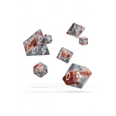 Oakie Doakie Dice RPG-Set Gemidice - Silver-Rust
