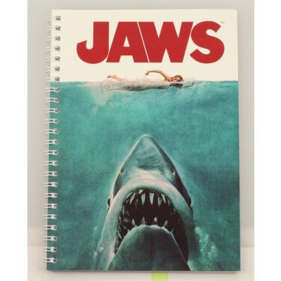 Jaws: Movie Poster Spiral Notebook