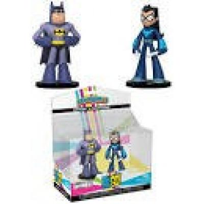Funko DC Teen Titans Go Hero World Series 3 Batman & Nightwing Exclusive 4-Inch Vinyl Figure 2-Pack