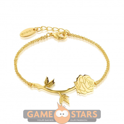 Disney Beauty and the Beast Rose Bracelet (Yellow Gold)