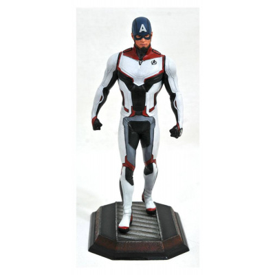 Avengers Endgame Marvel Movie Gallery statue Team Suit Captain America Exclusive 23 cm