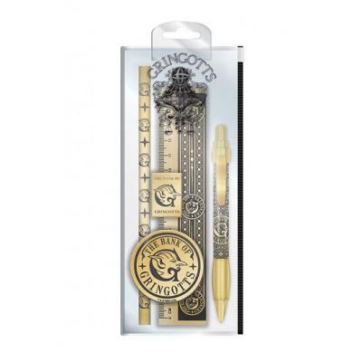 Harry Potter Gringotts Piece Stationery Set Pen Pencil Ruler Sharpener