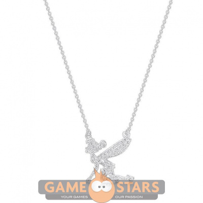 Disney Tinker Bell Crystal Necklace (White Gold)