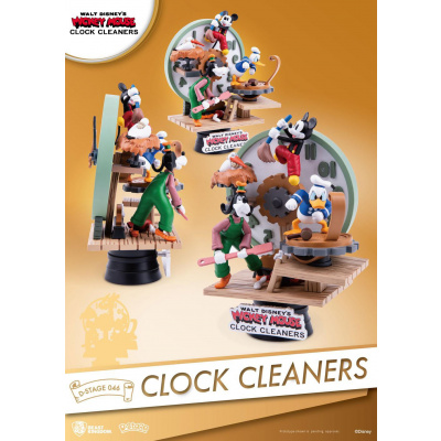 Disney: D-Stage - Clock Cleaners PVC Diorama