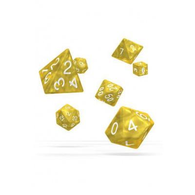 Oakie Doakie Dice RPG Set Marble - Yellow