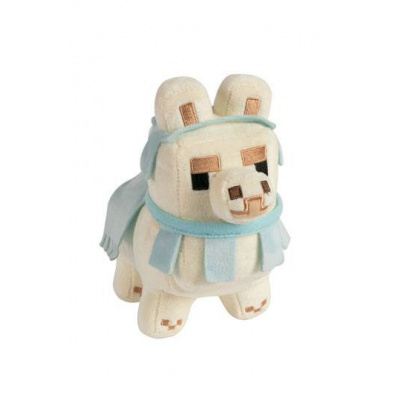 Minecraft Happy Explorer Plush Figure Baby Llama White/Baby Blue 16 cm