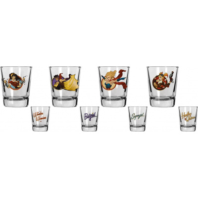 DC Comics: Bombshells Set 4 Mini Glasses