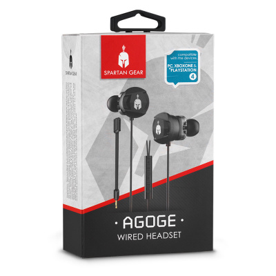 Spartan Gear - Agoge Wired Headset (Compatible with PC, Playstation 4, XboxOne, tablet, mobile)