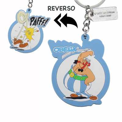 Asterix: Obelix Pafff Reversible Rubber Keychain