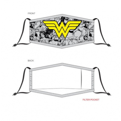 DC Comics: Wonder Woman Adjustable Face Mask