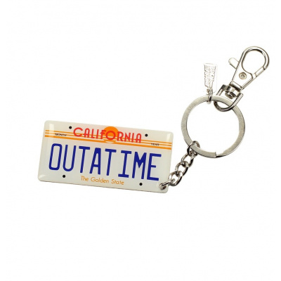Back to the Future: Car Plate Metal Keychain