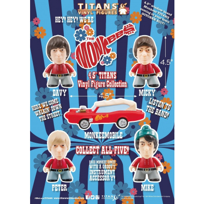 The Monkees TITANS: 4.5 inch Peter Tork
