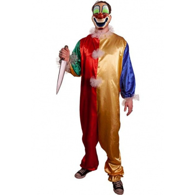Halloween: Young Michael Clown - Child Costume with Mask