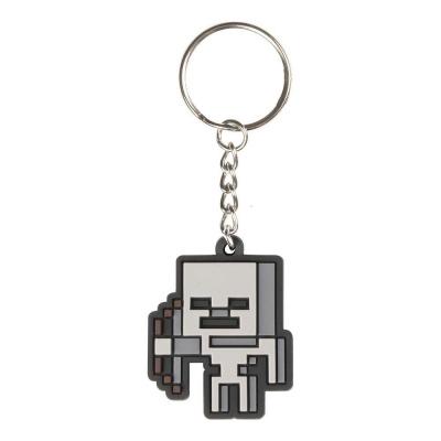 Minecraft Rubber Keychain Skeleton Sprite 4 cm