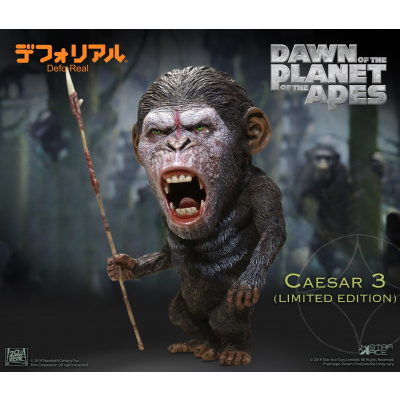 Dawn of the Planet of the Apes: Defo-Real Warrior Face Caesar PVC Statue