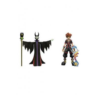 Kingdom Hearts 3 Select pack 2 figurines Maleficent & Sora 18 cm