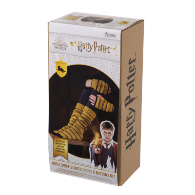 Harry Potter: Hufflepuff Slouch Socks and Mittens Knit Kit