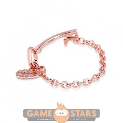 Disney Alice in Wonderland Key Bracelet (Rose Gold)