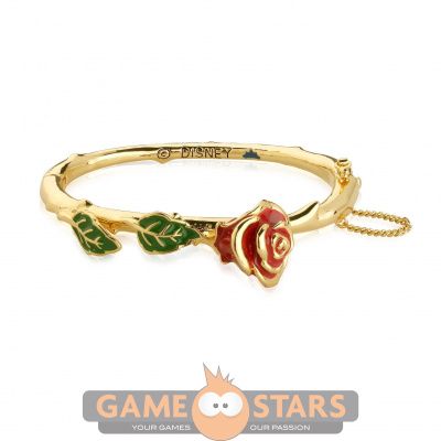 Disney Beauty and the Beast Enchanted Rose Bangle (Yellow Gold)