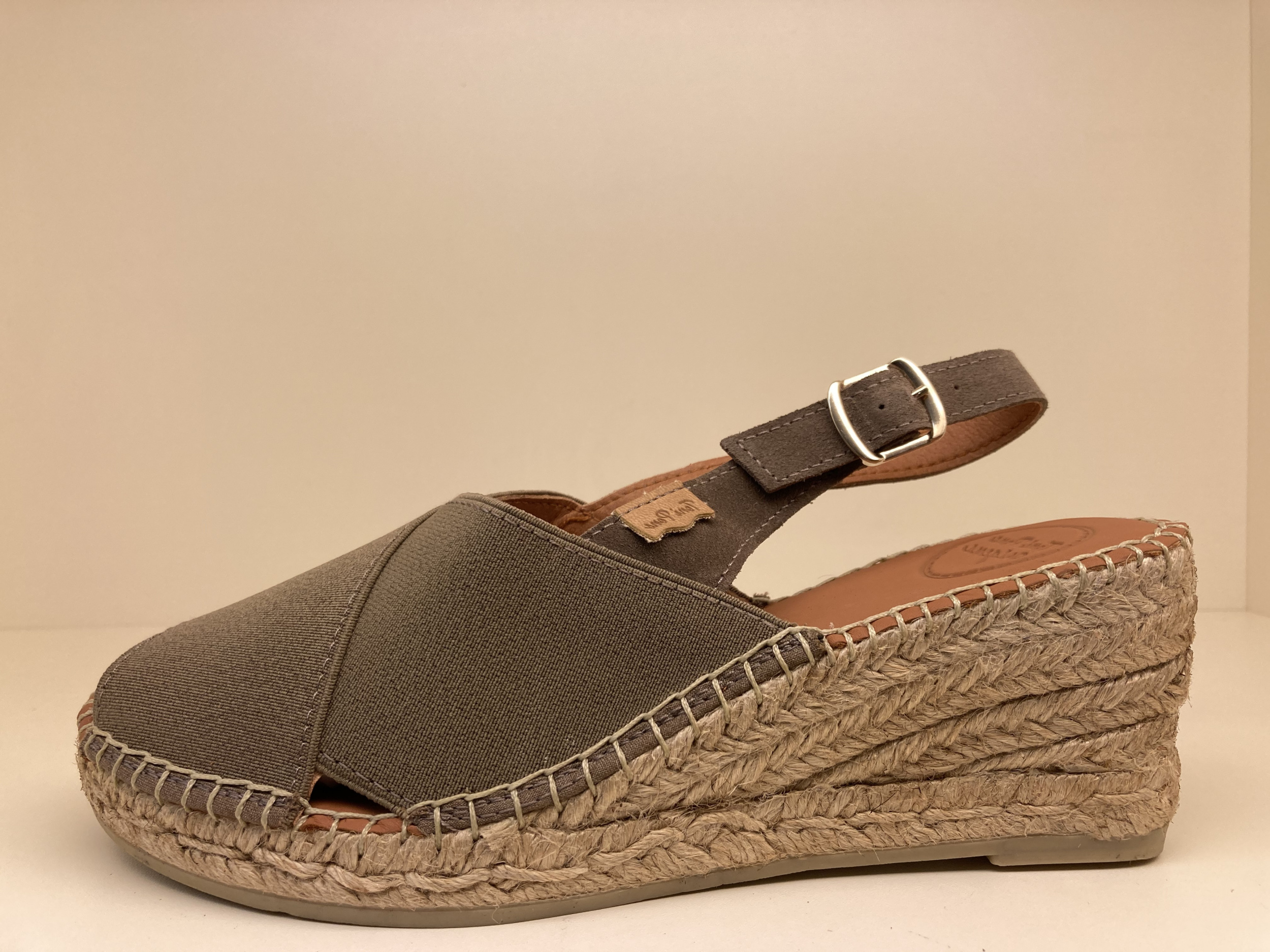 Espadrilles sandaal met sleehak