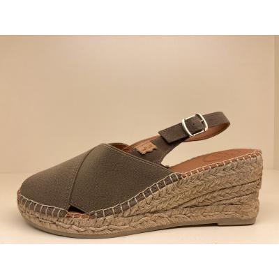 Foto van Espadrilles sandaal met sleehak