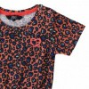 Afbeelding van Beebielove girls all over print dress leopard Coral