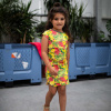 Afbeelding van Quapi dress Fab Multicolor flower