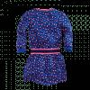 Afbeelding van Z8 baby Eva dress Brilliant blue/all over print leopard pink/blue