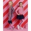 Afbeelding van Z8 girls Maarit Royal blue/Popping pink/Stripes