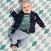 Afbeelding van Quapi newborn broekje Zayn dark blue stripe