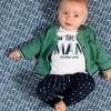 Afbeelding van Quapi newborn vest Zander vintage green