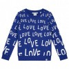 Afbeelding van Nik & Nik girls Love Ao Sweater River Blue 7115