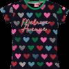 Afbeelding van O'Chill Denise shirt navy/all over heart print