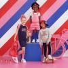 Afbeelding van Z8 girls Amber tuinbroek short pink/red
