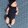 Afbeelding van quapi newborn romper Zeke dark blue Arrow