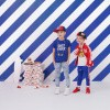 Afbeelding van Z8 baby boys Lucas korte mouw Brilliant blue/Midnight navy all over print tijger