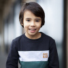 Afbeelding van Moodstreet boys sweater green stripe