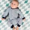 Afbeelding van Quapi newborn boxpakje Zeb dark blue stripe