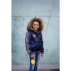 Afbeelding van Moodstreet meisjes winterjas sateen bomber navy