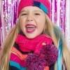 Afbeelding van Kidz-art girls Knitted scarf pompom