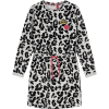 Afbeelding van Quapi Adele dress dark grey leopard