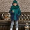 Afbeelding van Z8 boys winterjas Benja Bottle green/Moonlight blue