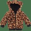Afbeelding van Z8 girls newborn Madrid jas All over print leopard Teddy