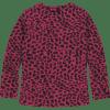 Afbeelding van Quapi girl Theola longsleeve Love Bordeaux Leopard